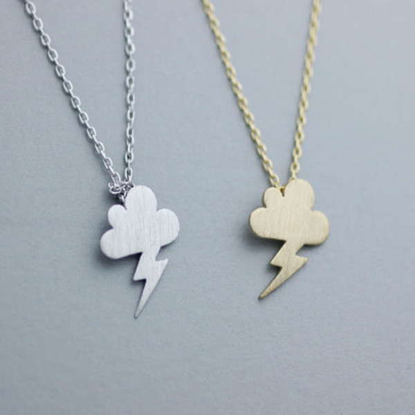 30PCS/lot Fashion Rose gold plating necklace Clouds and thunder necklaces for women wholesale