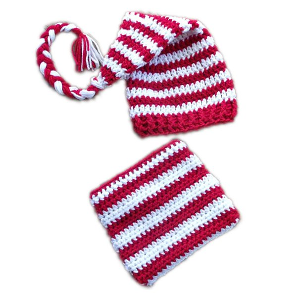 2pcs Newborn Baby Girls Boys Crochet Knit Lion Costume Photo Photography Props