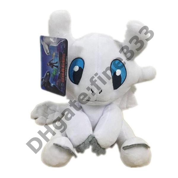 Stuffed Boneca How to Train Your Dragon 3 25 centímetros Plush Toys 2019 filme desdentado Luz Fúria Soft White Dragão Bichos de pelúcia Dolls