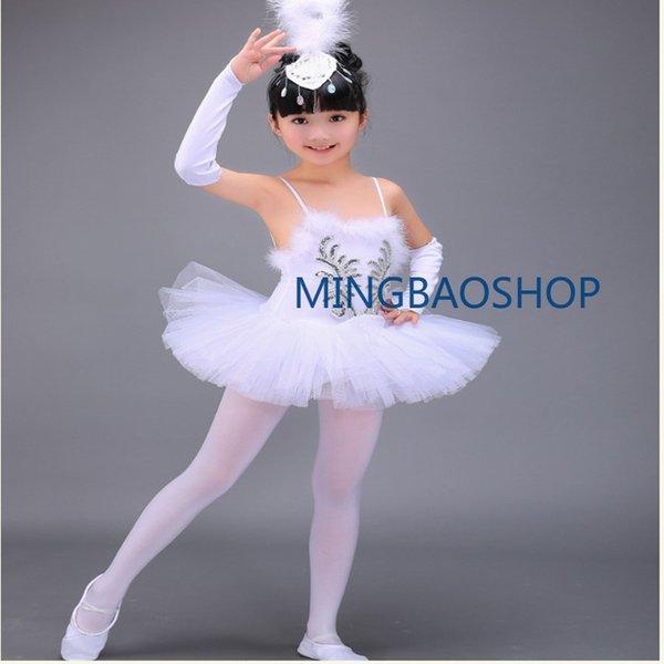 Ballet Profesional Tutu Disfraces Dancing Dress for Kids Ballet Jurk dames Tutu Vestido de Vestido de Traje White Swan Lake