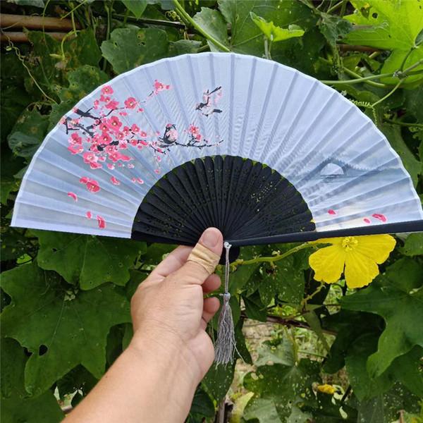 Silk folding hand fan Japanese style cherry blossom fan peach blossom fan wedding gift party favor W9456