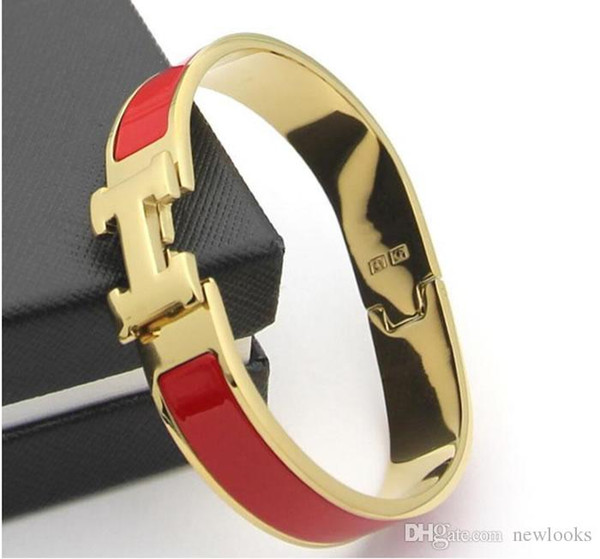 Luxury Designer Jewelry Women Bracelets Stainless Steel Enamel charm Bracelets Bangle Letter Buckle High quality Bracelets.
