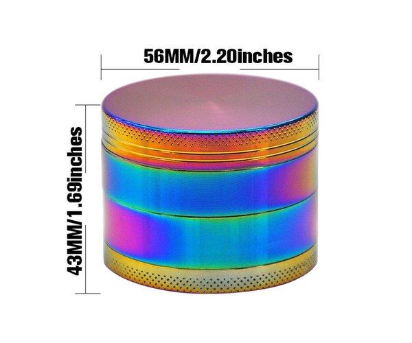 56 * 63 mm (2,2 * 1.69inch)