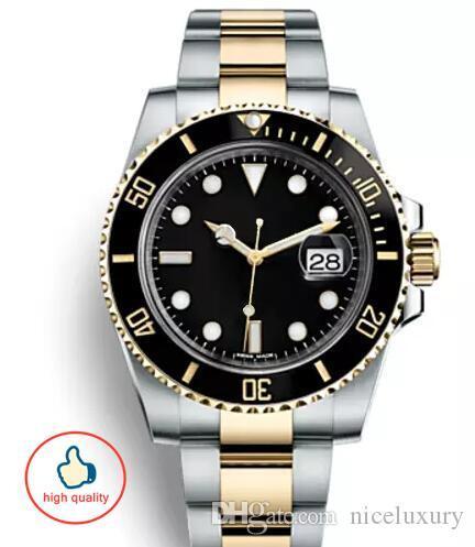best selling Classic Top Ceramic Bezel Mens Mechanical Stainless Steel designer watch montre wristwatch with logo luxury swiss watch relogios mens de lux