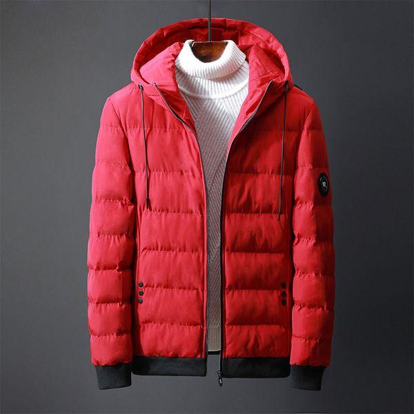 Classic Male Cotton Clothing Winter Solid Color Men's Hooded Parkas Windproof Men's Parkas Coats Keep Warm Jacket Coats