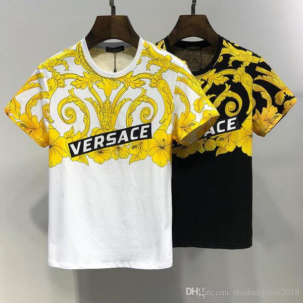 T-shirt streetwear da donna di design da uomo caldo stampato t-shirt da donna girocollo t-shirt da uomo bicolonna estivo t-shirt da bambino short-sleev