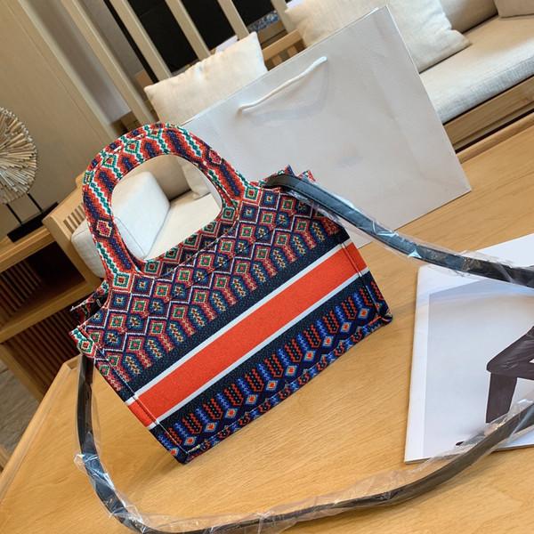 Роскошные классические красочные вишни цветы книга сумки дизайнер сумочка печатных вышитые холст дизайнер crossbody сумка сумки