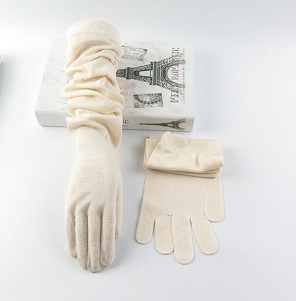 printemps femmes d'été minces gants de coton longues crème solaire d'été femme manches longues bras protection uv gant conduite R1236