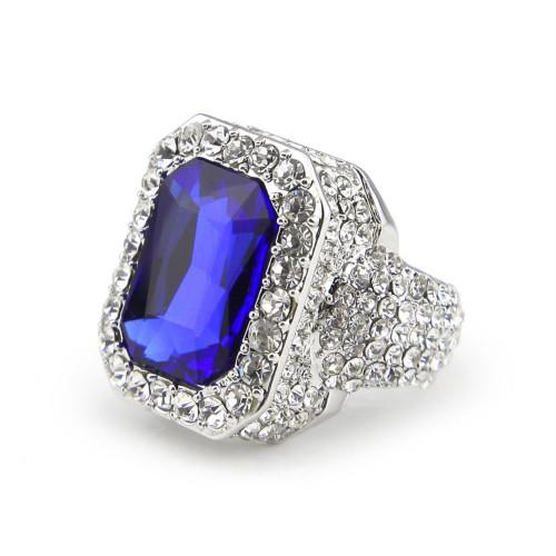 Silver with sapphire