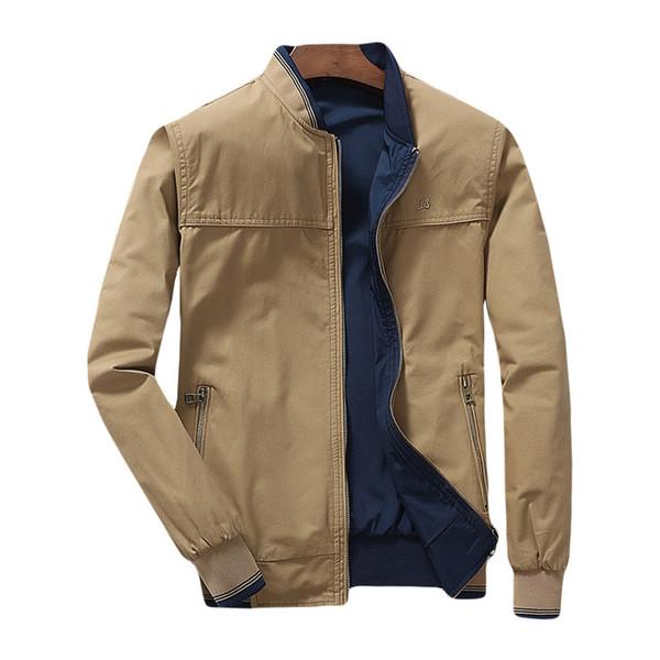 2019 Jacket Men Both Side Wear Pilot Mens Jackets And Coats Casual Slim Fit Solid Male Outwear Windbreaker Drop Shipping