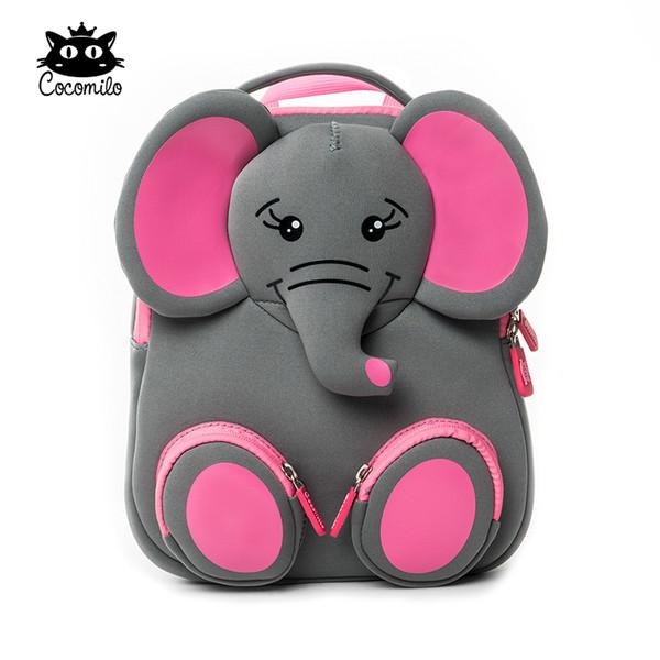 Cocomilo Brand Kids Cute Elephant Kindergarten Waterproof Schoolbag Boys Cartoon Children Backpacks For Girls Animal School Bags Q190530