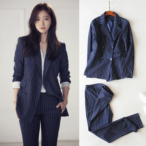 Nuovo set di due pezzi Abiti da donna coreani Set di abbigliamento taglie forti Cappotto di velluto da donna Abito da lavoro professionale da donna in due pezzi