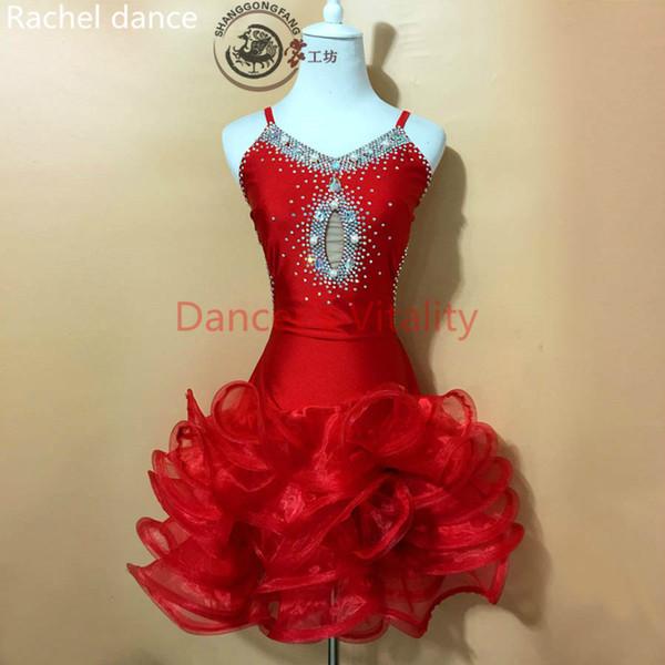 2017 Qualitäts-Tassel lateinische Tanz-Kleid Fringe Latin Dance Kostüme für Salsa Samba Gesellschafts Wettbewerb Kostüm Tango-Kleid