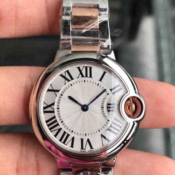 33мм повелительница кварцевые часы Элегантные платья женщин Relogio Известные розовое золото золота нержавеющей стали наручные часы KDYA топ надувательства