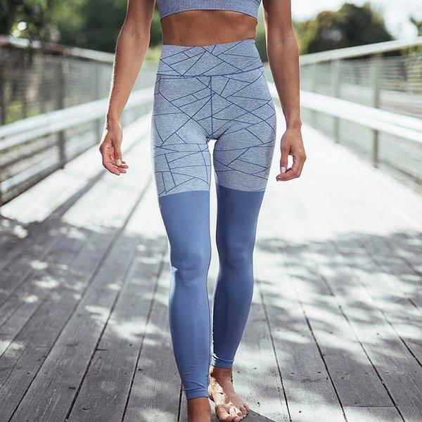 Printed Running leggings 2018 Women GYM Tights Patckwork Fitness Leggings Push Up Hips Sportswear Pants Women Yoga Tights GYM