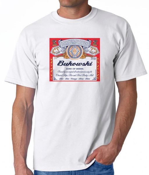 Белая футболка Буковски Чарльз пиво Budweiser Harajuku лето 2018 футболка классическое качество высокая футболка