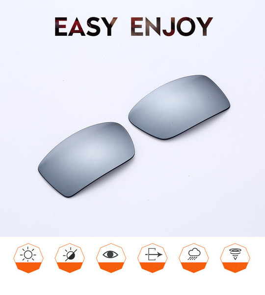 50PRS Wholesale sporty-driving O GASCAN sunglasses replacement mirror silver polarized UV400 lenses for gascan sunglasses replacement