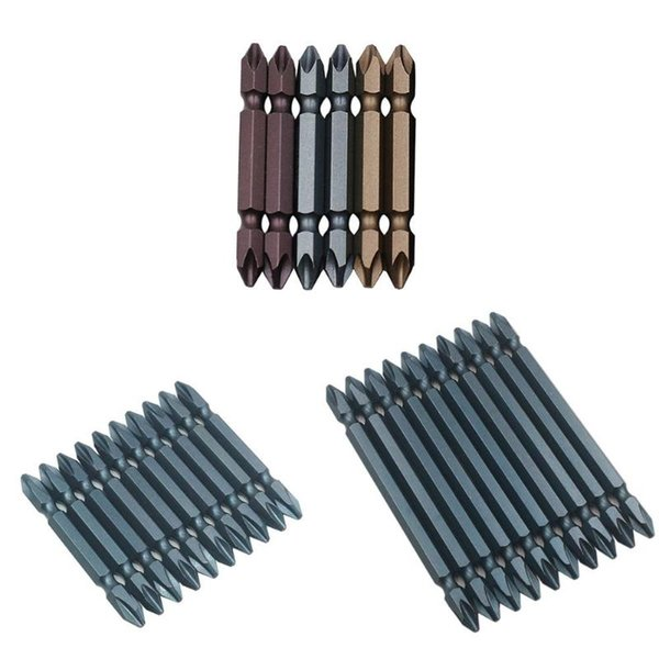 10pcs/set Double-ended Strong PH2 Magnetic Coil Precision Screwdriver Set Anti Slip S2 Steel Electric Screw Driver Heads Kit