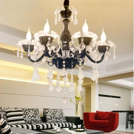 Modern LED Crystal Black Chandeliers Lampadario Camera Da Letto Bedroom  Living Room Hotel Chandeliers Ceiling Lampadario LLFA Vintage Chandeliers  ...