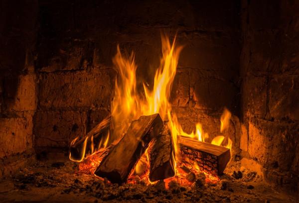 Laeacco-Holzfeuer-Kamin-Flammen-brennender Ziegelstein-Muster-Tapeten-Fotografie-Hintergrund-Foto-Hintergrund-Fotocall-Foto-Studio