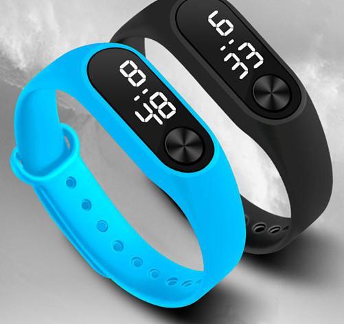 Xiaomi led digital smart watch pulseiras tpe pulseira de silicone relógio de pulso eletrônico crianças meninos meninas esportes 12 cores dhl