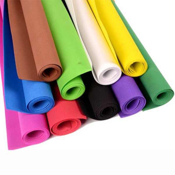 Schaum-Papier 50 * 50cm DIY für Dekoration Schwamm-Schaum-Papier Dekoration Handgemachte Materialien Hintergründe Zufällige Farbe