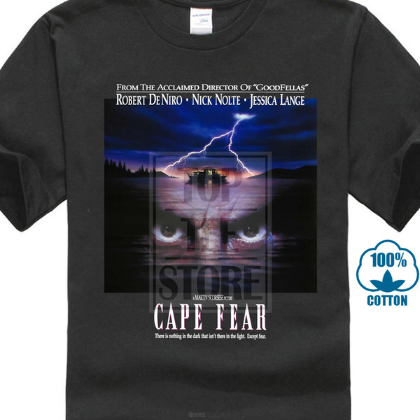 Cape Fear Poster 1991 T Shirt Black Navy Todos los tamaños S a 4xl Casual Plus Size T-Shirts Hip Hop Style Tops Tee S-2xl