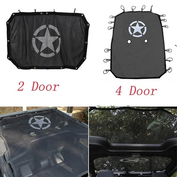 best selling Star Style Black Durable Full Cover Mesh Shade Top Sunshade UV Protection for Jeep Wrangler 2007-2017 2 4 Door