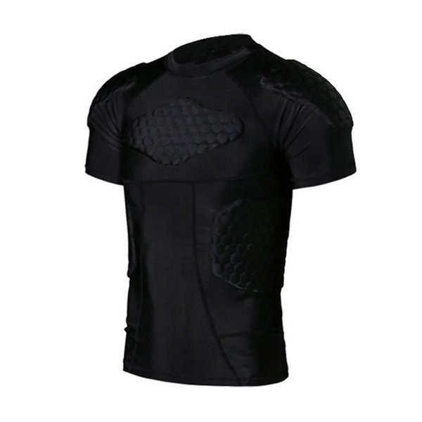 2019 new outdoor men tactical vest honeycomb o-neck collision quick-drying vest tight jackets short sleeve nznx thumbnail