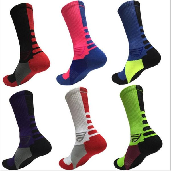 Terry Towel Bottom Socks Elite Basketball Socks USA Professional Sports Socks Athletic Football Sock Thickened Breathable Run Hoisery C6479