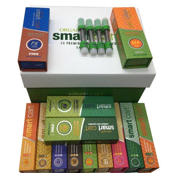 Smartbud Vape Cartridge Packaging Smart Bud Carts 510 Ceramic Cartridges 0.8Ml Empty Vape Pen Vaporizer Glass Oil Atomizer E Cigarettes