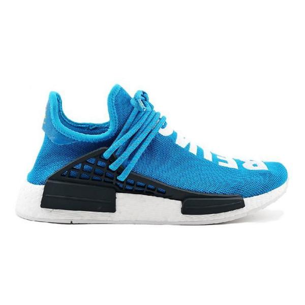 2019 Nmd Human Race Running Shoes For Mans Pharrell Williams Sample Yellow Core Black Sport Designer Shoes Men Women Sneakers 36-45
