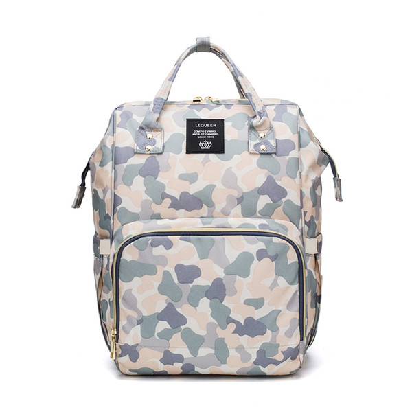 Newest Lequeen Mummy Backpacks Multifunctional Baby Diaper Bags Mum Nappy Nursing camouflage Maternity Backpacks for baby MPB55