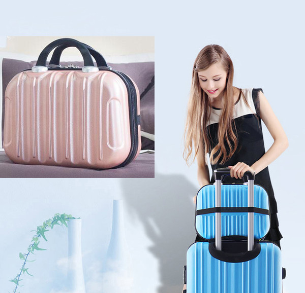New Waterproof ABS Makeup Bags Hard Portable Cosmetic Home Storage Bag Women Travel Organizer Necessity Beauty Case Suitcase Make Up Bag