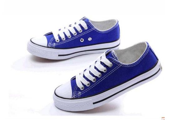 Venta al por mayor de 2018 de alta calidad nuevo tamaño 35-46 hombres y mujeres neutrales, zapatos de lona de alta calidad superior 15 zapatos casuales de color zapatos deportivos