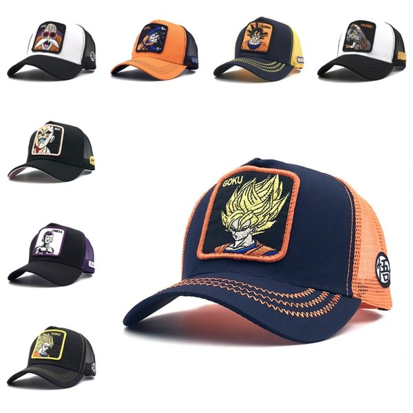 New Style 7 Dragon Ball Baseball Net Cap Baseball Hat Summer Volleyball Cap Embroidery High-quality Mesh Hats Casual For Women Men M1Y