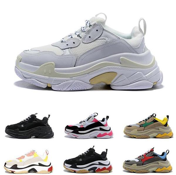2019 la mejor calidad Paris 17FW Triple s Sneakers para hombres mujeres negro rojo blanco verde Casual Dad Shoes tennis2019 tamaño Tcreasing zapatillas 36-45