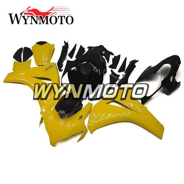 Carenado completo de plástico ABS amarillo brillante negro para Honda CBR1000RR 2008 2009 2010 2011 CBR 1000RR 08 09 10 Kits de cuerpo de motocicleta de inyección Casco