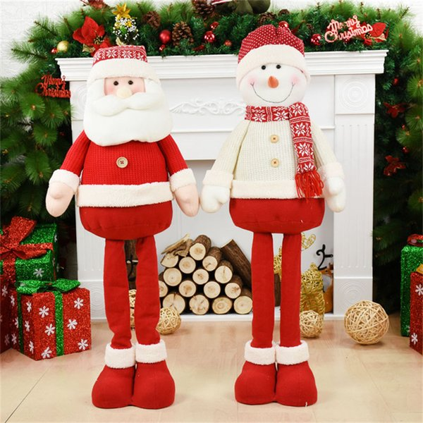 New Year 100cm Santa Claus Christmas Decorations For Tree Natal Figures Christmas Home Decoration Accessories Xmas Ornaments Y191104