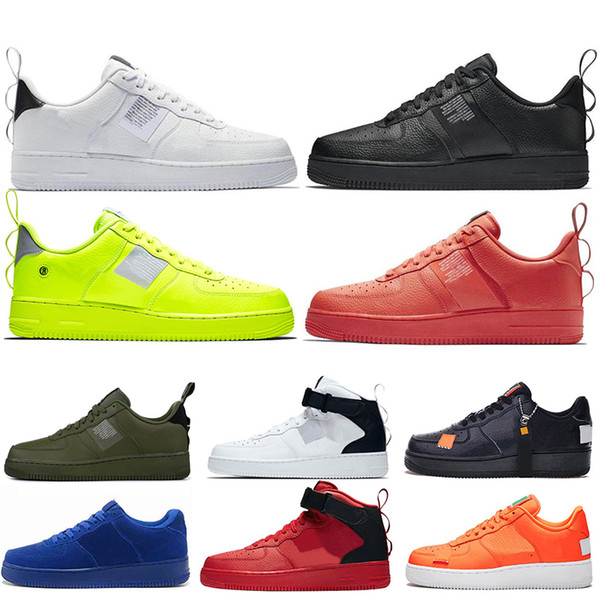 Compre Nike Air Force 1 One Off White Límite De Descuento En La Venta DUNK 1 Low Utility Black White Green Red Suede Blue Women Zapatos Para Hombre