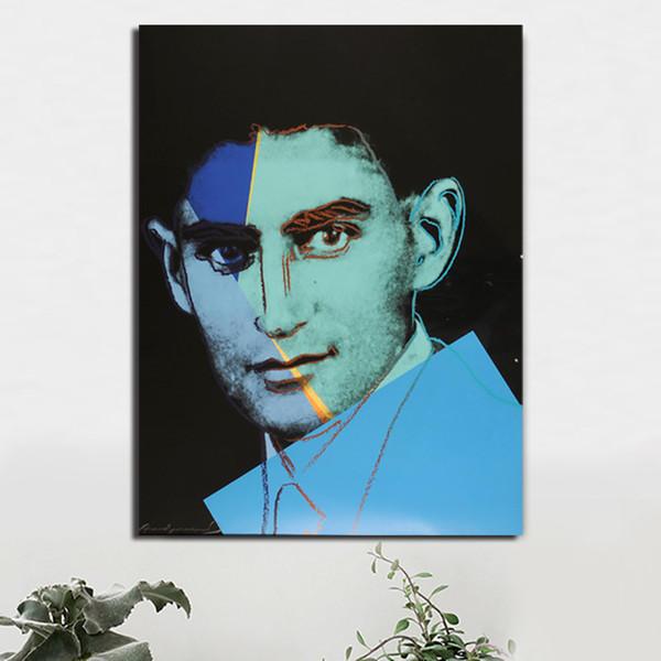 Franz Kafka Von Andies Warholer Leinwand Poster Drucke Wandkunst Malerei Öl Dekorative Bild Küche Wohnzimmer Wohnkultur HD