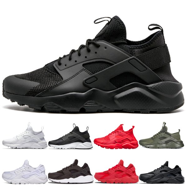 Nouveau Arriver Huarache Chaussures De Course Pour Hommes violet gris bleu rouge 1 4 Huaraches Sneakers Designer Hommes Femmes triple black white Trainer Chaussures