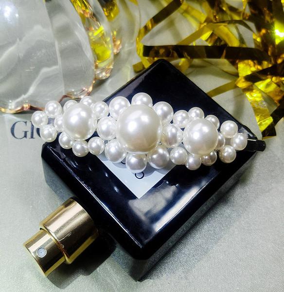 2019 Nueva Moda Cristal Perla Clip de Pelo Dulce Perlas Lindas Pin Clips Mujeres Boda Regalo de Vacaciones Accesorios de Joyería Alfileres de Pelo