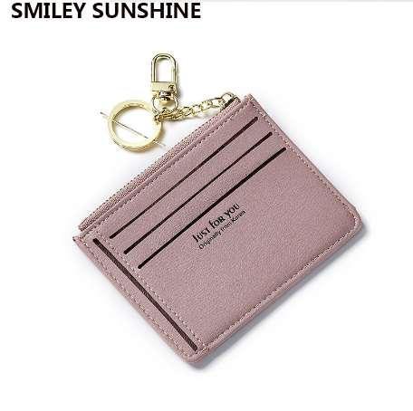 SMILEY SUNSHINE fashion business id credit card holder women bank card case cardholder female slim wallet for cards porte carte