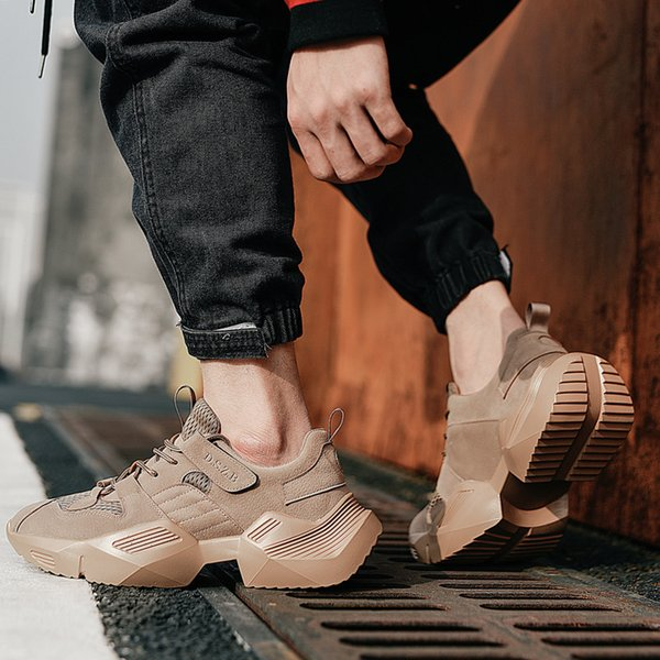 vsiovry spring summer trend men running shoes suede breathable sneakers for men outdoor walking sport shoes lightweight krasovki