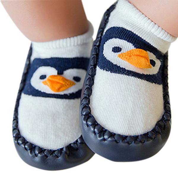 2018 del bambino di modo calzini con gomma Suole Infant Socks Newborn Autunno Inverno Bambini Pavimenti scarpe anti slittamento morbido Sole