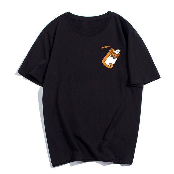 RIPNDIP печати женщин Дизайнер Tshirts Summer Сыпучие O образным вырезом с коротким рукавом милые дамы Топы Женский Одежда