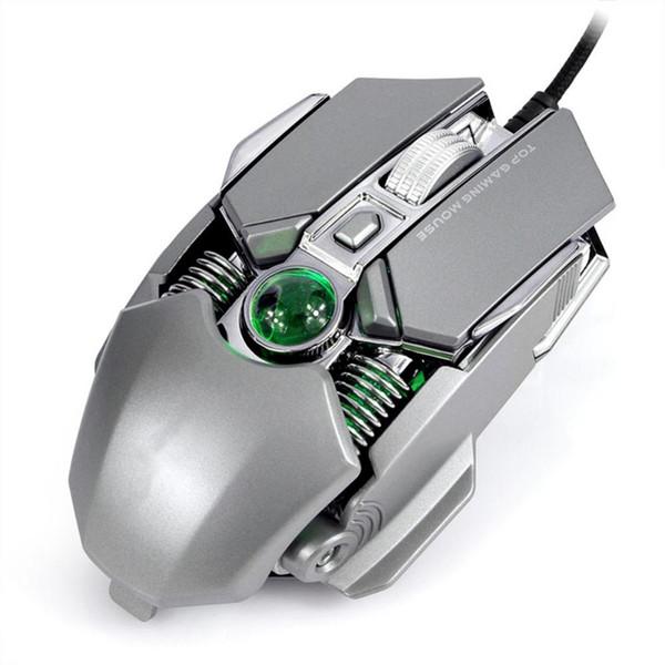 Ratón USB para juegos con cable, DPI ajustable ergonómico RGB Luz 1.5M Cable Juego Ratones para CF / PUBG