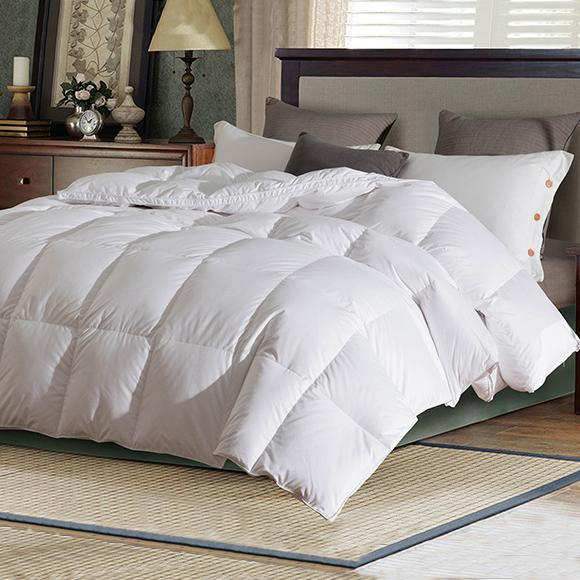 Shuangcheng Down Spring and Autumn Quilt 95 White Down 80 Tribute Satin Quilt Core Bedding Hotel Handmade Single and Double
