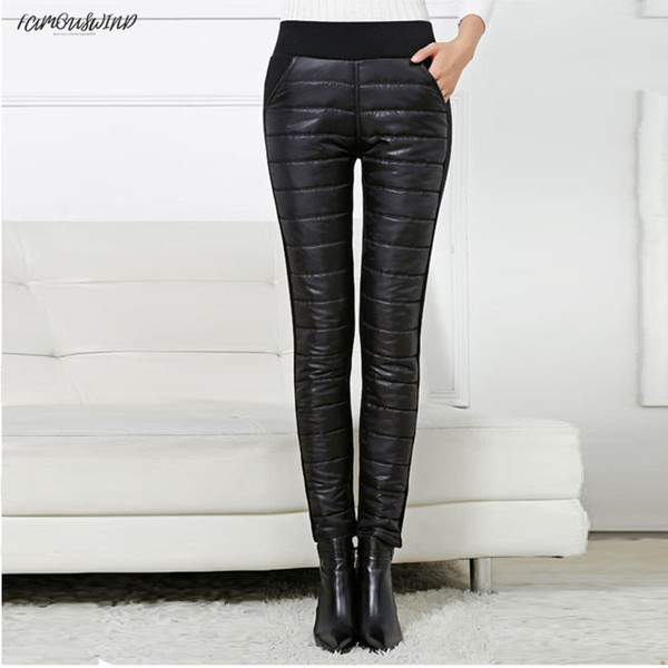 sweatpants wear snow black warm women new arrival casual leggings trousers female high waist thicken down cotton ladies pants